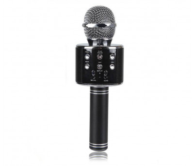 Беспроводной Bluetooth караоке микрофон HIFI WS-858 BLACK