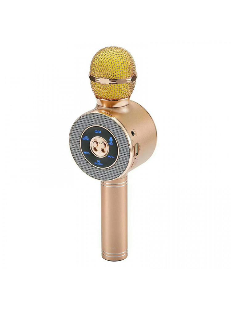 Беспроводной караоке микрофон со встроенной ко..