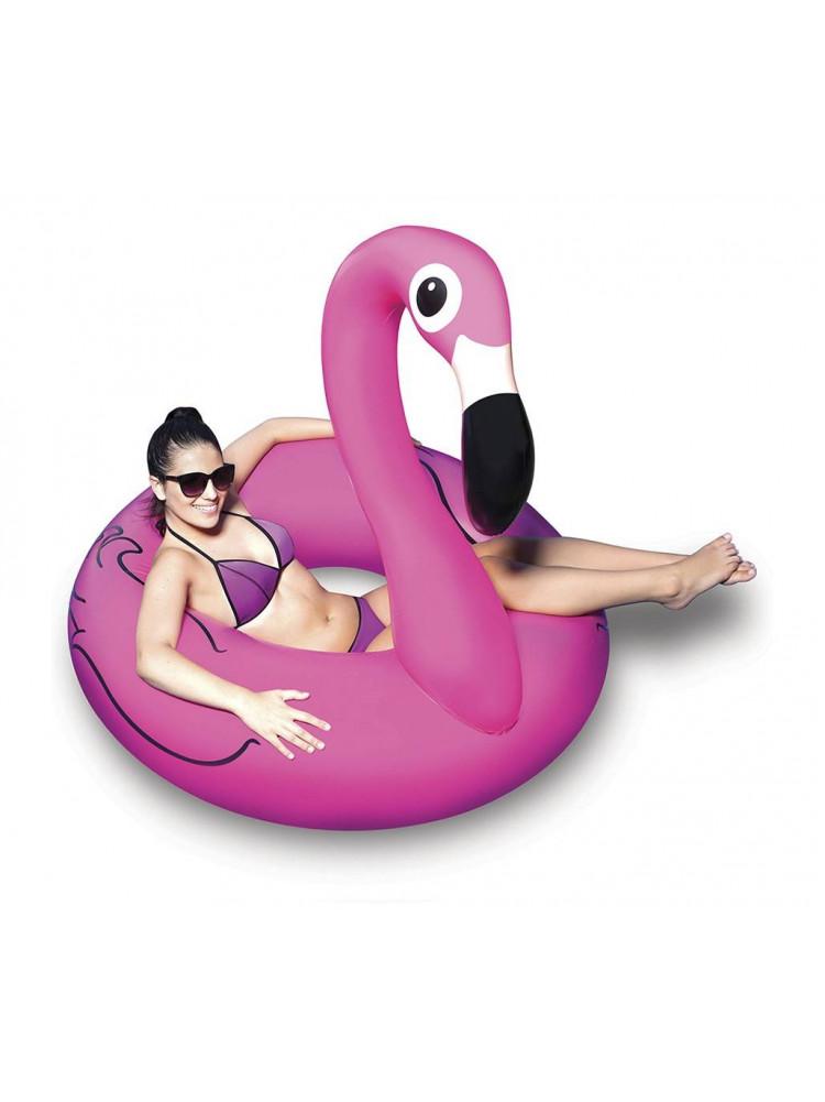 Надувной круг фламинго розовый Pink Flamingo 9..