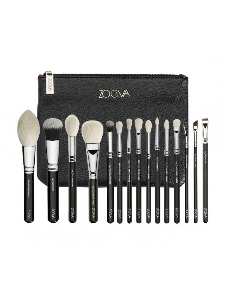 Кисточки для макияжа 15 штук Zoeva Black..