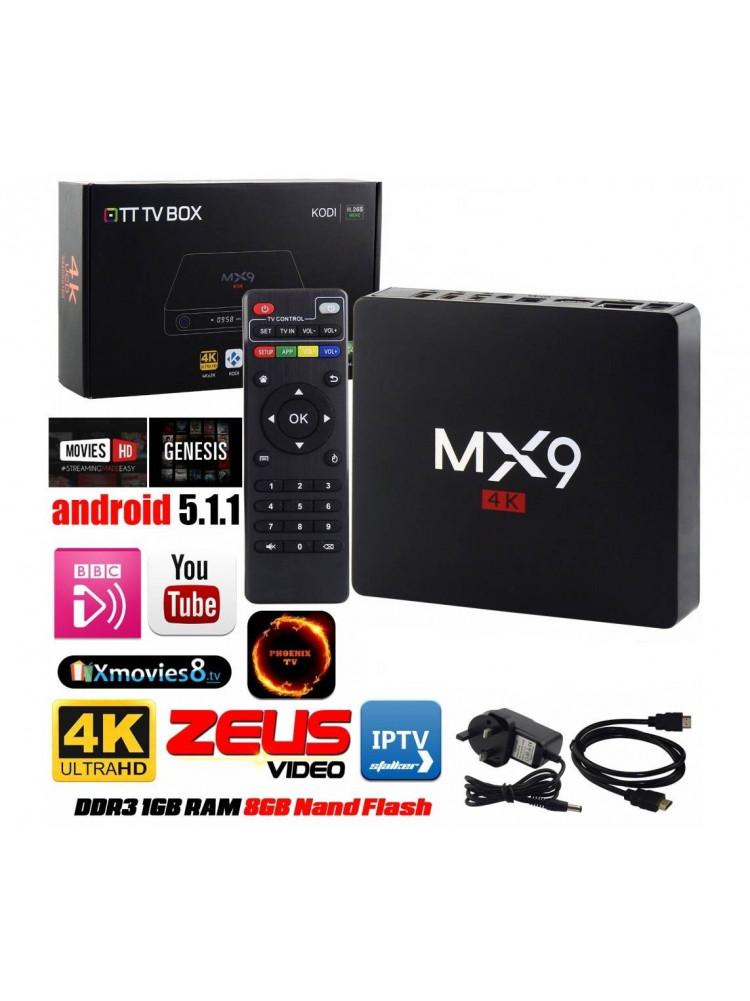 Smart Box TV Android Приставка смарт ТВ MX9..
