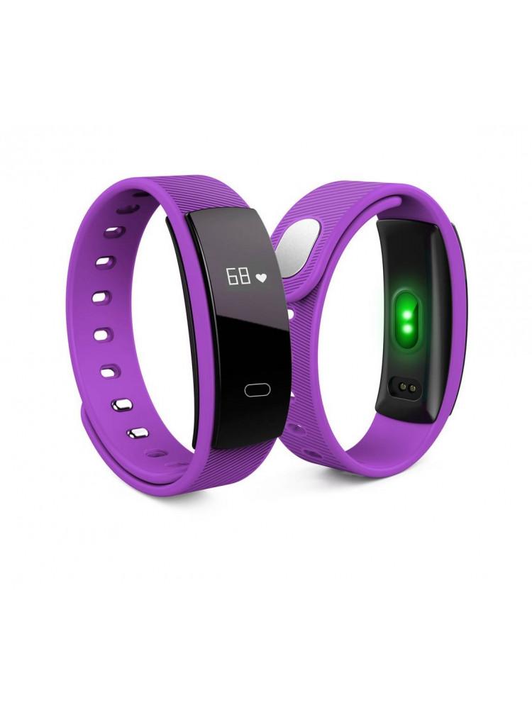 Фитнес браслет Smart Band QS80 фиолетовый (пул..