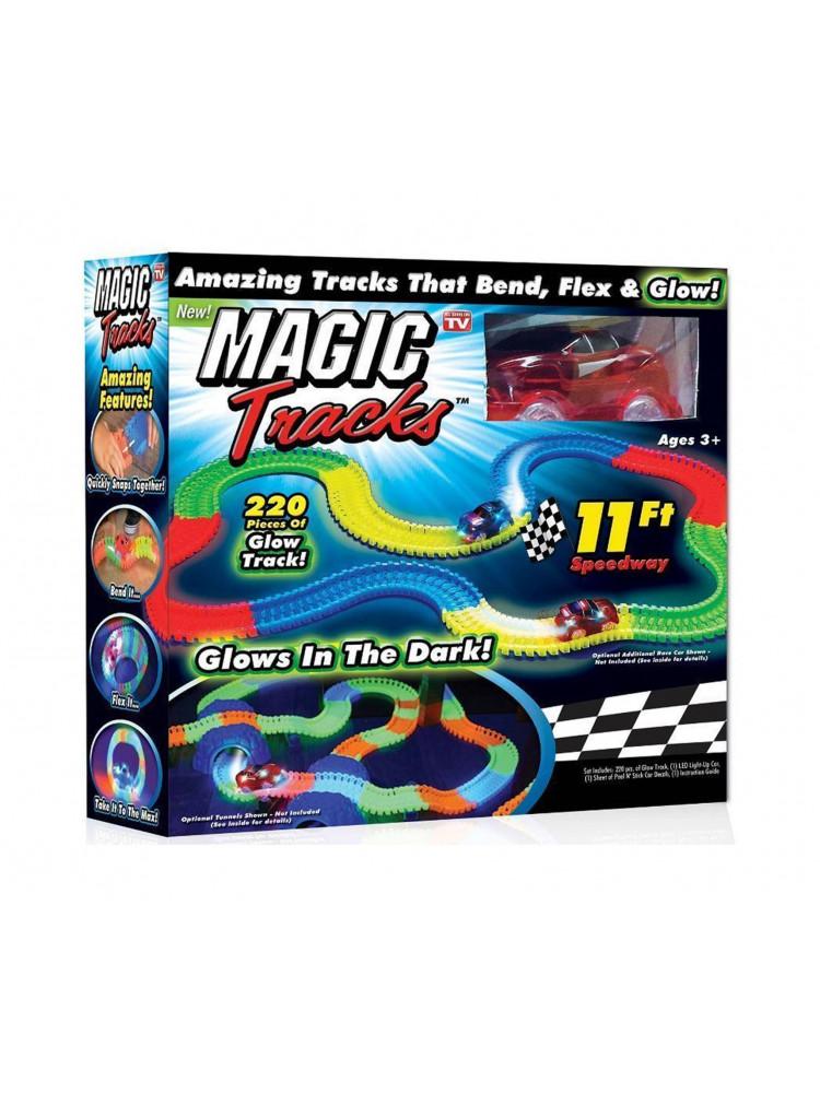 Набор magic tracks 220 деталей светящейся доро..