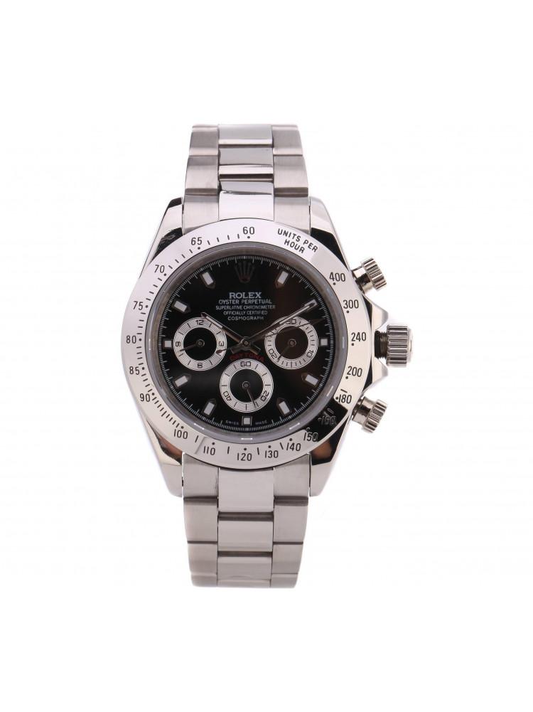 Часы Rolex Daytona Silver (черный циферблат)..