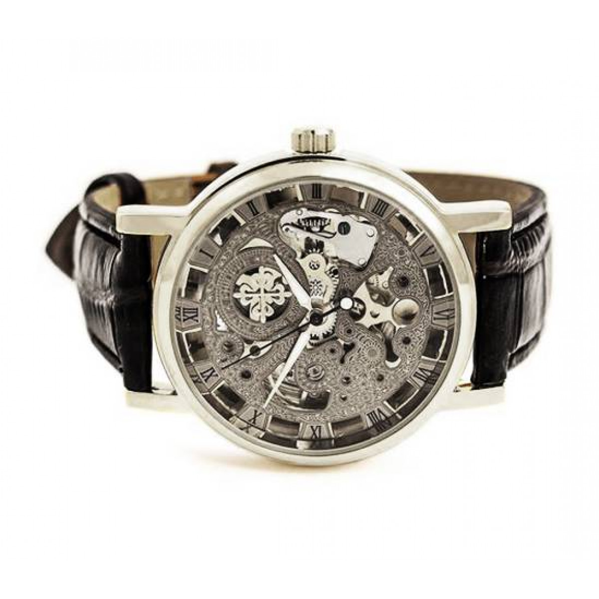 8d61c8ae Купить часы Скелетон (реплика Patek Philippe) Silver