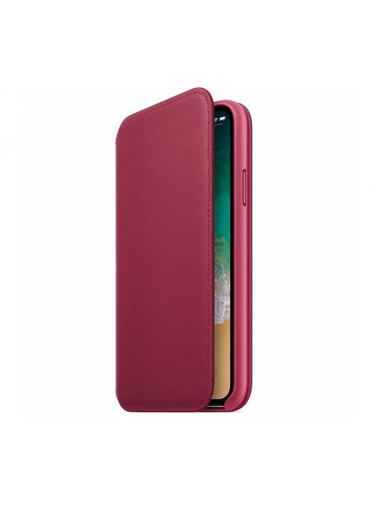 Чехол Apple Leather Folio для iPhone X лесная ..