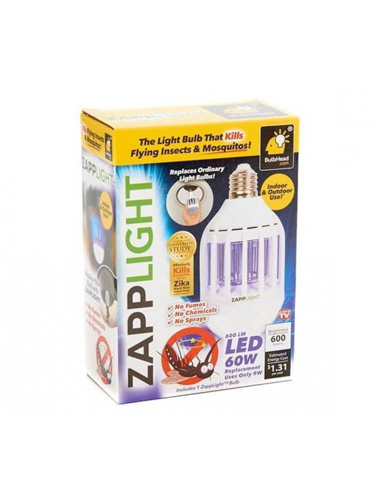 Cветодиодная лампочка ловушка, от комаров и на..