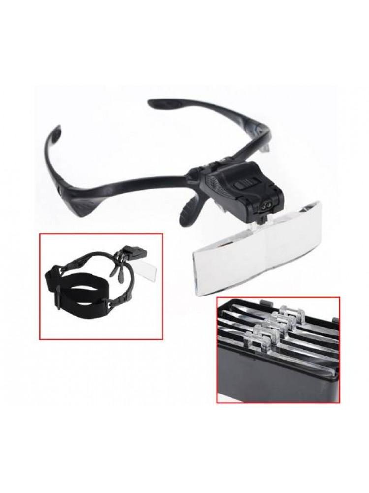Налобные лупа-очки Kromatech 2 LED MG9892B..