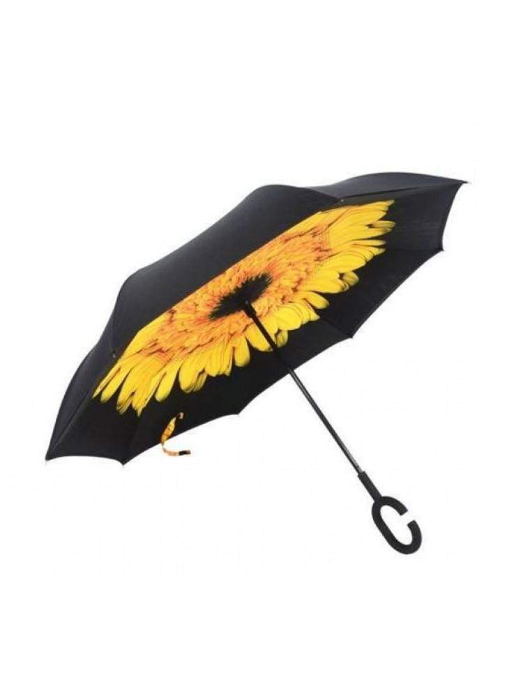 Зонт наоборот (Желтый цветок) UPBRELLA..