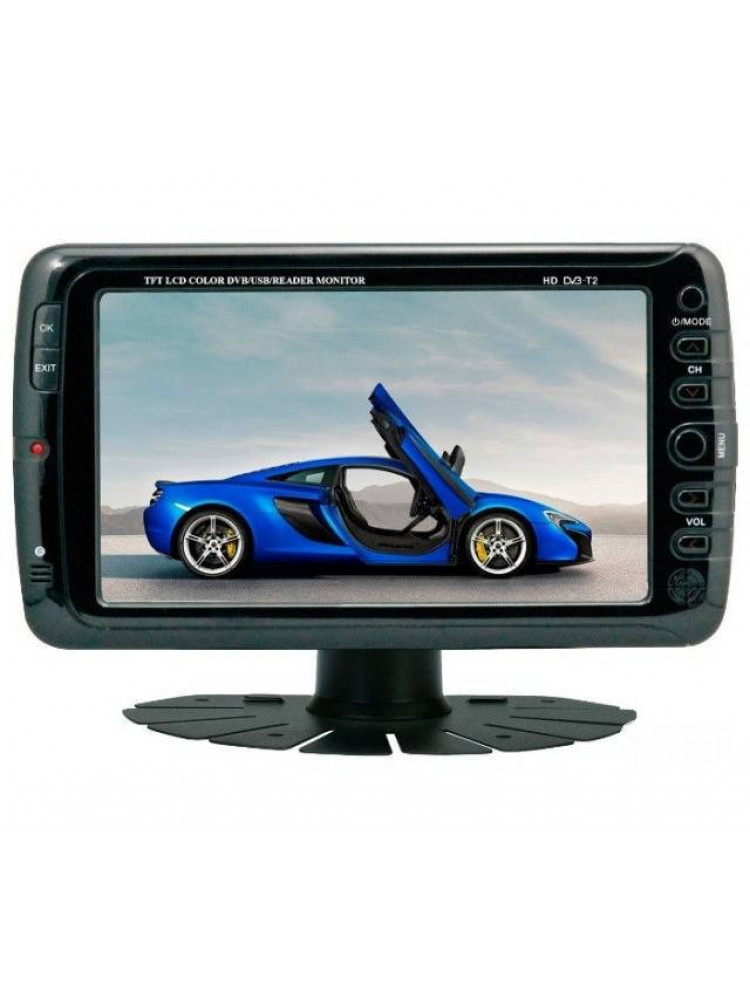 Автомобильный портативный телевизор с DVB-T2 7..