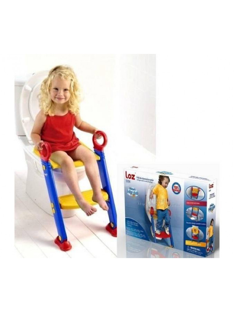 Детское сиденье на унитаз со ступенькой Froggi..