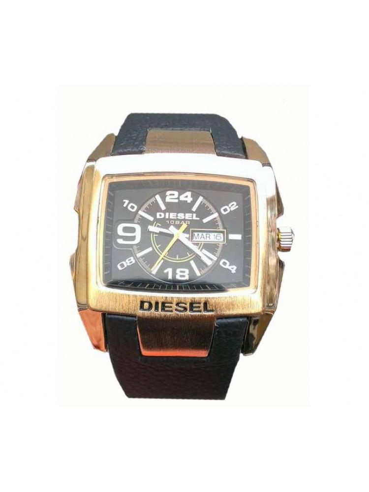 Часы Diesel 10bar черные в золоте..