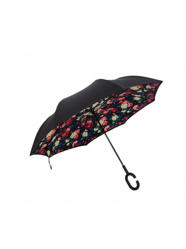 Зонт наоборот (Розы) UPBRELLA..