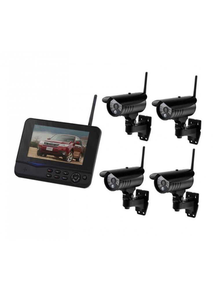 Беспроводной комплект видеонаблюдения c 4 каме..