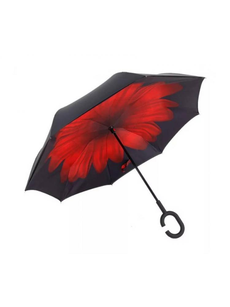 Зонт наоборот (Красный цветок) UPBRELLA..