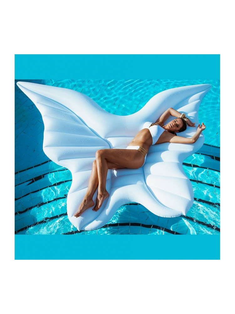 Надувной матрас белые крылья ангела 250 см..