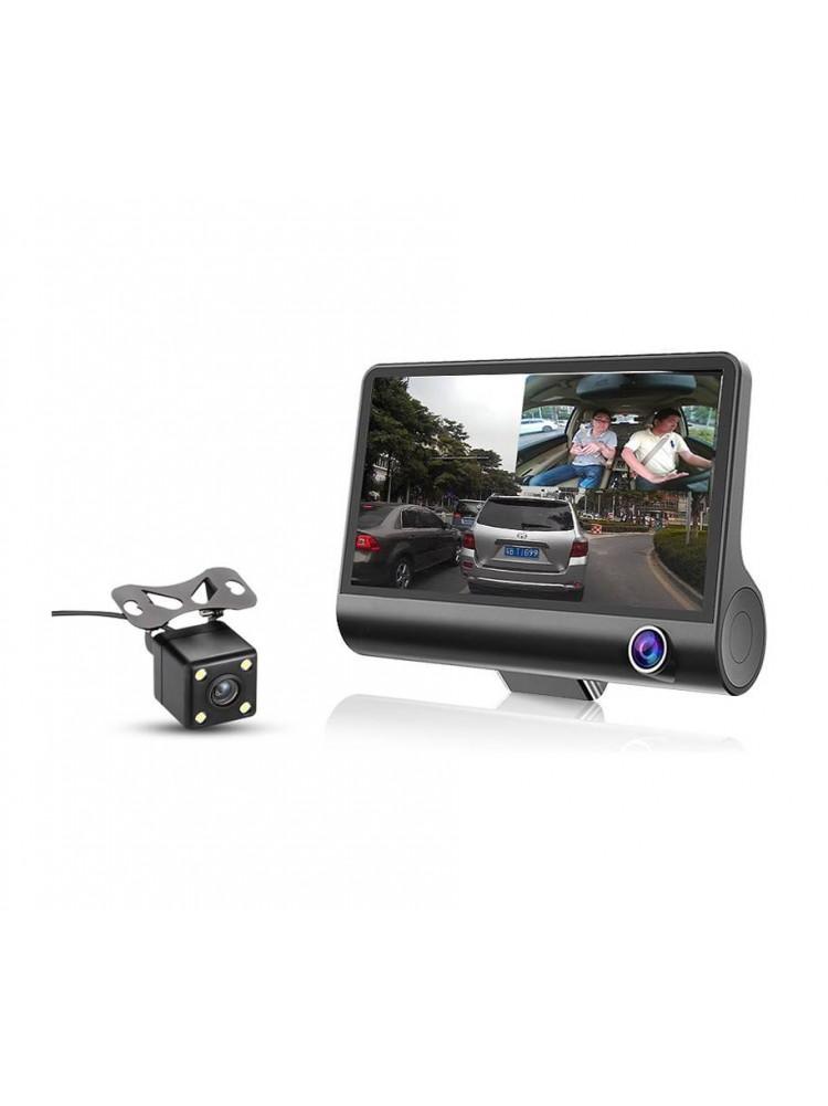 Автомобильный видеорегистратор c 3-я камерами ..