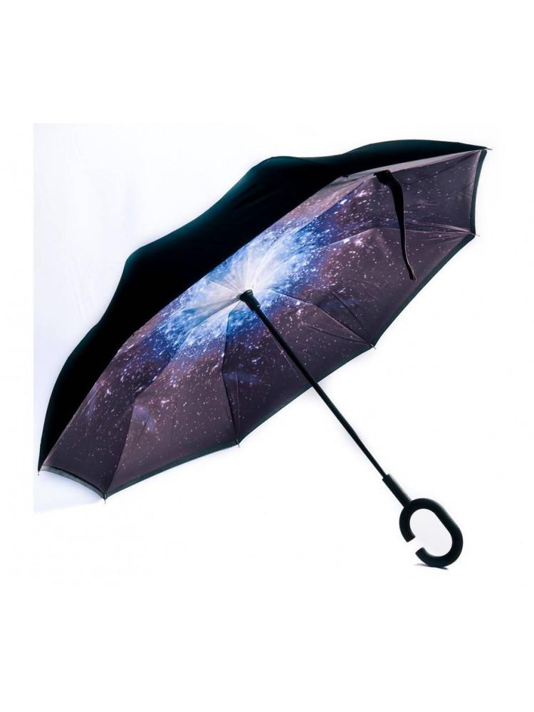 Зонт наоборот (Космос) UPBRELLA..