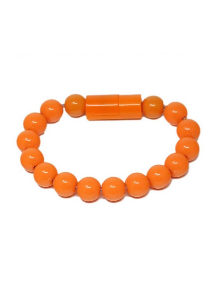 Браслет-зарядка Bracelet Charging Line (Оранже..