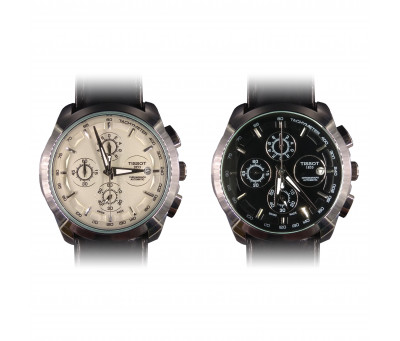 Кварцевые часы Tissot 1853 Couturier Automatic Chronograph (все рабочие циферблаты)
