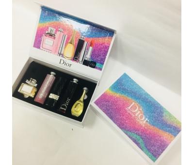Подарочный набор Dior 5 в 1 парфюмерия + косметика