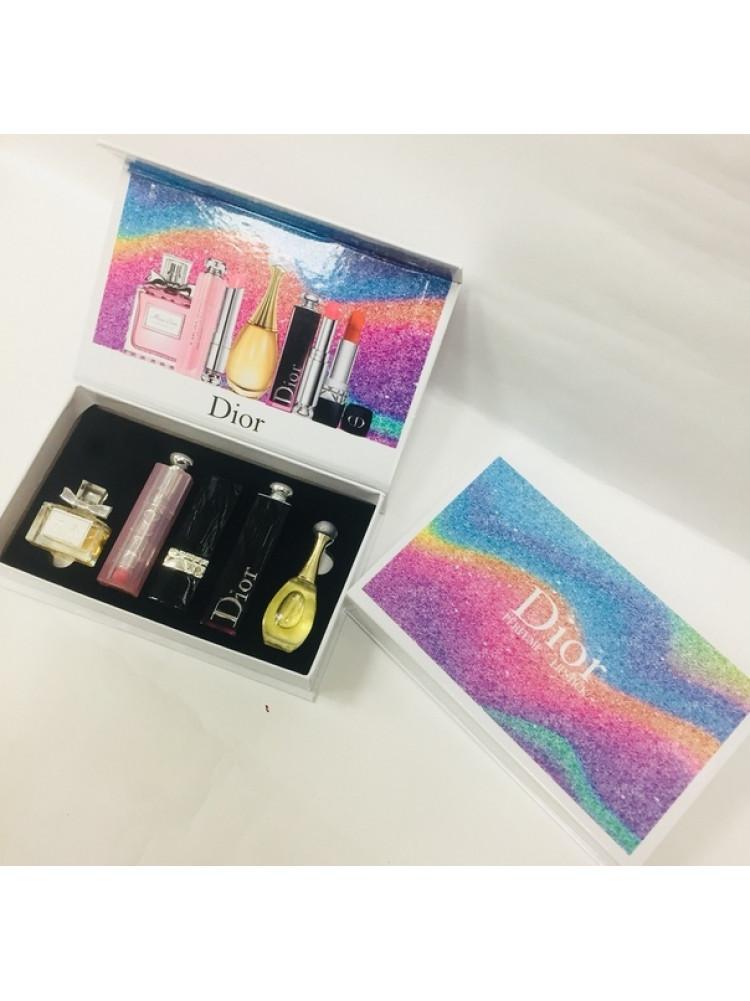 Подарочный набор Dior 5 в 1 парфюмерия + косме..