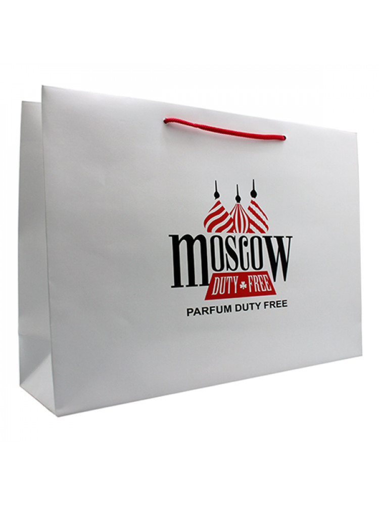 Подарочный пакет Moscow Duty Free 30x25 см сре..