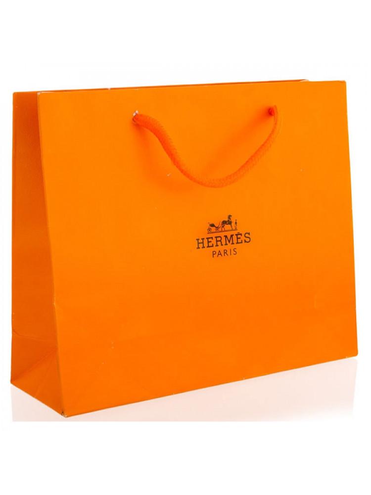 Подарочный пакет Hermes 34x43 см большой..