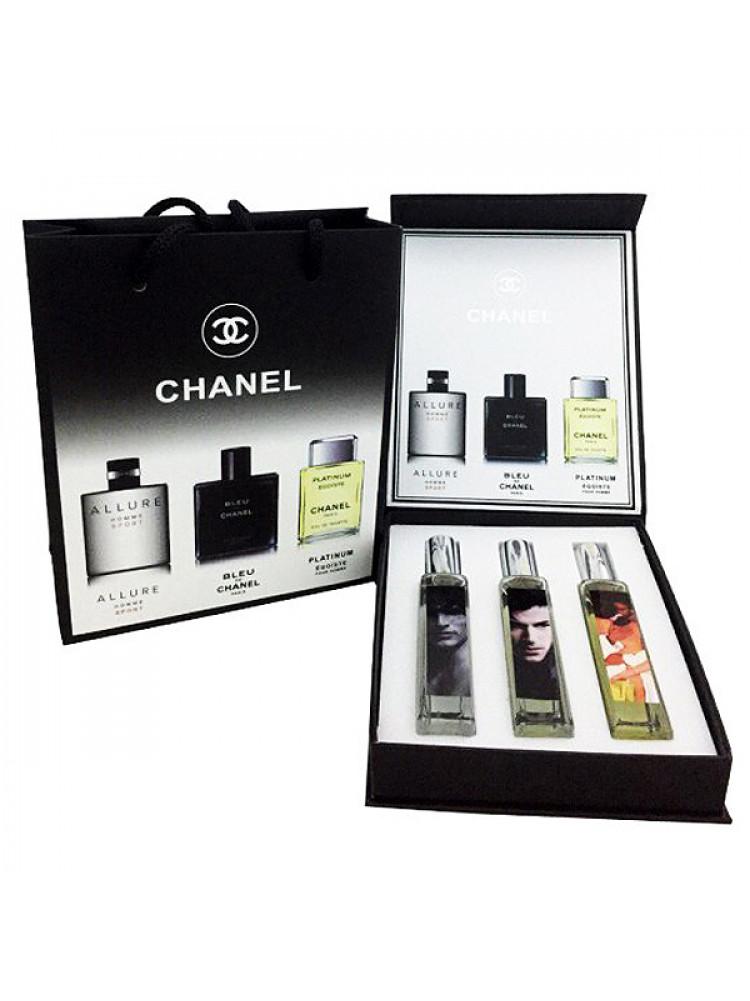 Подарочный набор Chanel Pour Homme 3x20 ml..