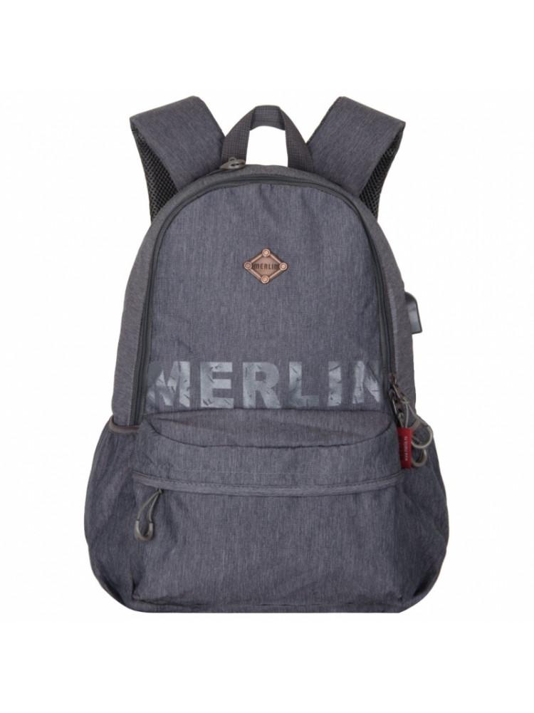 Школьный Рюкзак Across Merlin серый A7288-20..