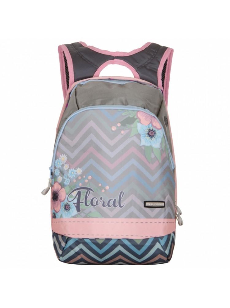 Школьный Рюкзак Across Floral серый ACR19-GL3-..