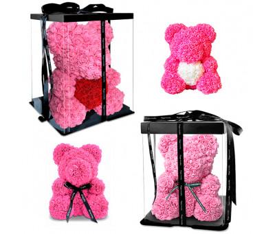 Мишка из роз (25 см / 40 см) в подарочной упаковке